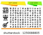 vector icons pack of 120 filled ... | Shutterstock .eps vector #1250088805