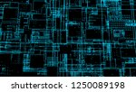 hud interface with neon effect  ...   Shutterstock . vector #1250089198