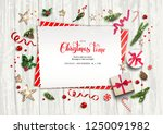 holiday card with festive card... | Shutterstock .eps vector #1250091982