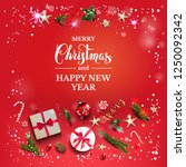 bright red holiday illustration ...   Shutterstock .eps vector #1250092342
