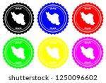 iran   rubber stamp   vector ... | Shutterstock .eps vector #1250096602