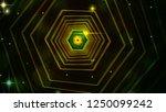 bright abstract hexagon tunnel...   Shutterstock . vector #1250099242