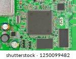 green printed modem motherboard ... | Shutterstock . vector #1250099482