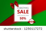 christmas sale  special offer ... | Shutterstock .eps vector #1250117272