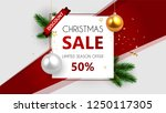 christmas sale  special offer ... | Shutterstock .eps vector #1250117305