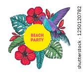 tropical design template.... | Shutterstock .eps vector #1250120782
