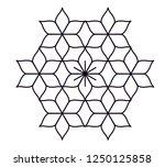 rangoli design  also called as... | Shutterstock .eps vector #1250125858