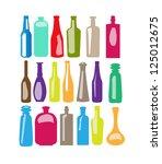 botle set | Shutterstock .eps vector #125012675