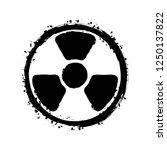 hazard  radiation. simple... | Shutterstock .eps vector #1250137822