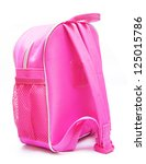 pink school backpack on white... | Shutterstock . vector #125015786