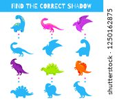 fun game for kids. find the... | Shutterstock .eps vector #1250162875