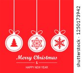 merry christmas and happy new... | Shutterstock .eps vector #1250173942