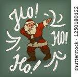 vintage santa dabbing  ... | Shutterstock .eps vector #1250180122