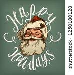 vintage santa claus face... | Shutterstock .eps vector #1250180128