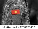 flag of vietnam on military... | Shutterstock . vector #1250190352