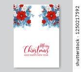 poinsettia wedding invitation... | Shutterstock .eps vector #1250217592