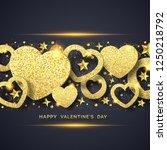 valentines day horizontal... | Shutterstock .eps vector #1250218792