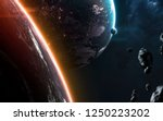 hot flame planets in deep space ...   Shutterstock . vector #1250223202