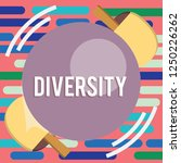 text sign showing diversity.... | Shutterstock . vector #1250226262