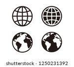 web  website  homepage icon set | Shutterstock .eps vector #1250231392