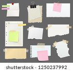 notes and reminders or paper... | Shutterstock .eps vector #1250237992