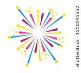 bright fireworks cartoon | Shutterstock .eps vector #1250245552