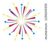 bright fireworks cartoon   Shutterstock .eps vector #1250245555