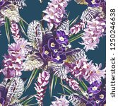 hyacinth and primula seamless...   Shutterstock . vector #1250246638