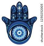 ornate amulet hamsa hand of... | Shutterstock .eps vector #1250252005