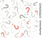 quiz seamless pattern. question ... | Shutterstock .eps vector #1250265622