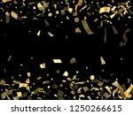 gold glitter confetti flying on ...   Shutterstock .eps vector #1250266615