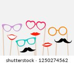 photo booth props female lips ...   Shutterstock .eps vector #1250274562