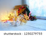 cozy winter composition with... | Shutterstock . vector #1250279755