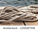 nautical rope close up on a... | Shutterstock . vector #1250287558