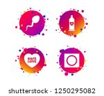 safe sex love icons. condom in... | Shutterstock .eps vector #1250295082