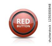 red button label illustration | Shutterstock .eps vector #1250300848