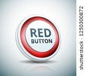 red button label illustration | Shutterstock .eps vector #1250300872