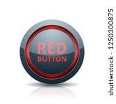 red button label illustration | Shutterstock .eps vector #1250300875