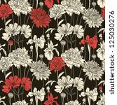 floral seamless pattern with... | Shutterstock .eps vector #125030276