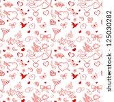 seamless pattern for valentine... | Shutterstock .eps vector #125030282