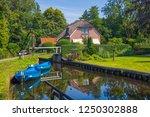 giethoorn  netherlands   july 4 ... | Shutterstock . vector #1250302888