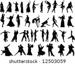 silhouettes of dancing people | Shutterstock .eps vector #12503059