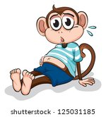 illustration of a monkey on a... | Shutterstock . vector #125031185