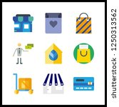 9 purchase icon. vector... | Shutterstock .eps vector #1250313562