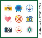 9 aiming icon. vector... | Shutterstock .eps vector #1250313745