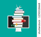 set of book icons in flat style ... | Shutterstock .eps vector #1250318668