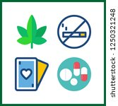 4 addiction icon. vector... | Shutterstock .eps vector #1250321248
