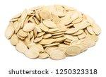 handful of pumpkin seeds in the ... | Shutterstock . vector #1250323318