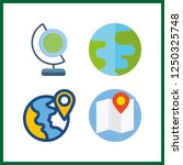 4 geography icon. vector... | Shutterstock .eps vector #1250325748