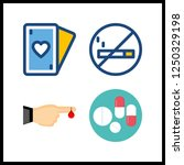 4 addiction icon. vector... | Shutterstock .eps vector #1250329198